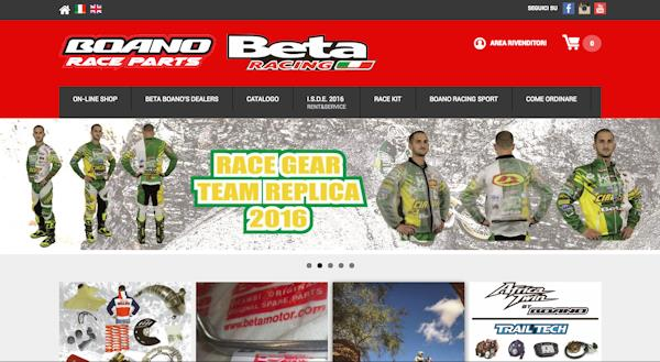 Nuova release per l' e-commerce Beta Boano Parts